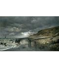 Claude Monet - Pointe de la Hève, bassa marea. Stampa su tela