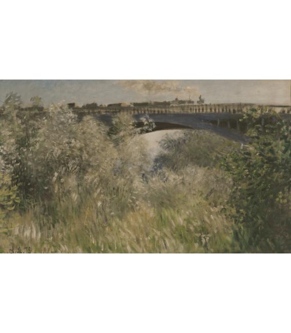 Printing on canvas: Claude Monet - Argenteuil Bridge