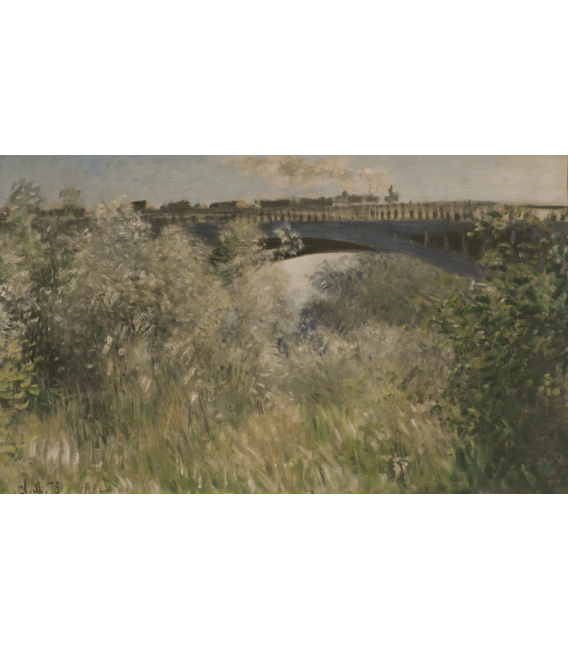 Stampa su tela: Claude Monet - Ponte di Argenteuil