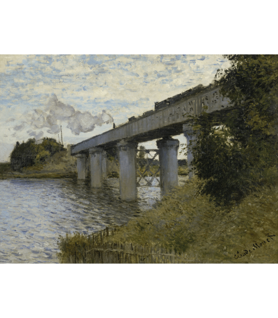 Printing on canvas: Claude Monet - Railway Bridge