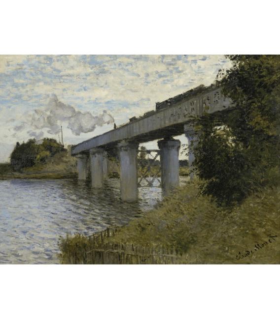 Stampa su tela: Claude Monet - Ponte della ferrovia, Argenteuil