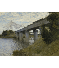 Claude Monet - Railway Bridge, Argenteuil. Printing on canvas