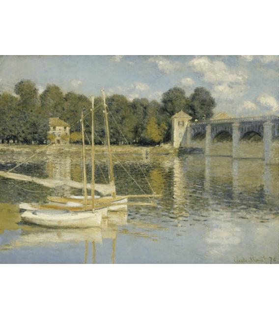 Stampa su tela: Claude Monet - Ponte di Argenteuil 2