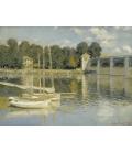 Claude Monet - Ponte di Argenteuil 2. Stampa su tela