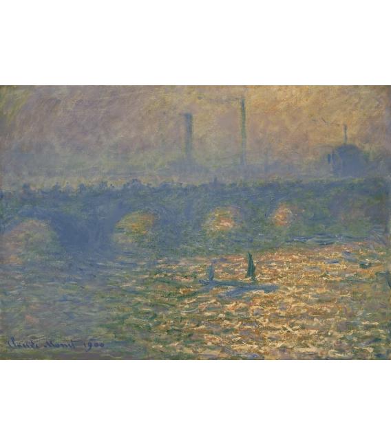 Stampa su tela: Claude Monet - Ponte di Waterloo, 1
