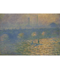 Claude Monet - Ponte di Waterloo, 1. Stampa su tela