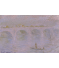 Claude Monet - Waterloo Bridge, 2. Printing on canvas