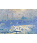 Claude Monet - Waterloo Bridge, 3. Printing on canvas