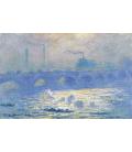 Stampa su tela: Claude Monet - Ponte di Waterloo, 3