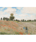 Claude Monet - Poppy Field Near Argenteuil. Printing on canvas