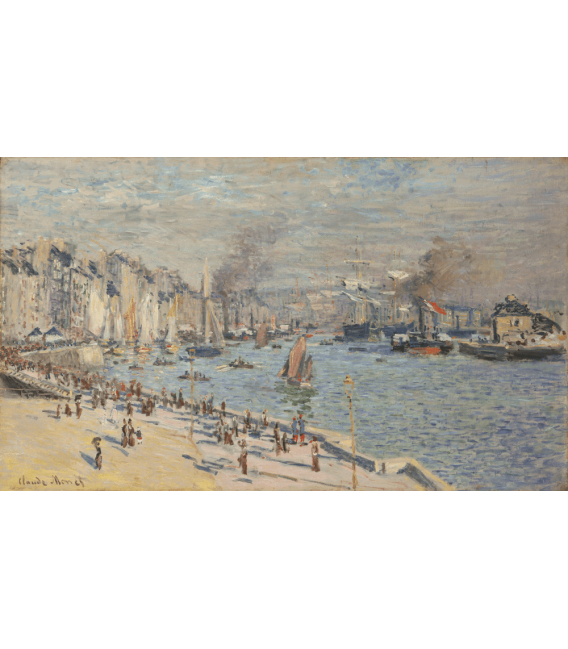 Printing on canvas: Claude Monet - Port of Le Havre
