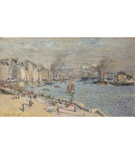 Stampa su tela: Claude Monet - Porto di Le Havre