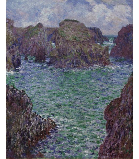Stampa su tela: Claude Monet - Port-Goulphar, Belle-Île