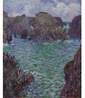 Claude Monet - Port-Goulphar, Belle-Ile. Printing on canvas