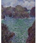 Claude Monet - Port-Goulphar, Belle-Île. Stampa su tela