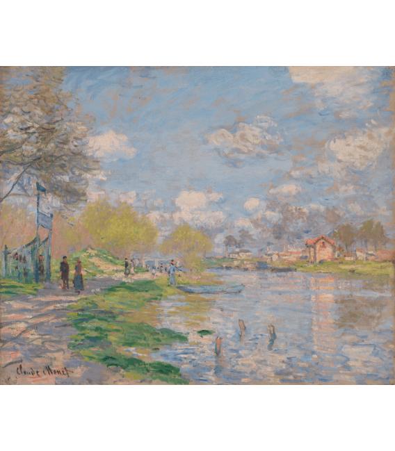 Stampa su tela: Claude Monet - Primavera presso la Senna
