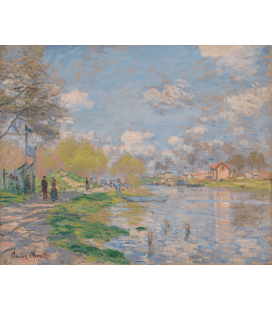 Printing on canvas: Claude Monet - Spring by the Seine
