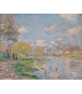 Claude Monet - Spring by the Seine. Printing on canvas