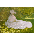 Claude Monet - Springtime. Printing on canvas