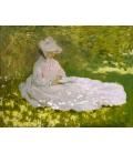 Claude Monet - Primavera. Stampa su tela