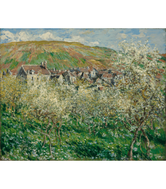 Stampa su tela: Claude Monet - Prugni in fiore