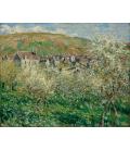 Claude Monet - Prugni in fiore. Stampa su tela