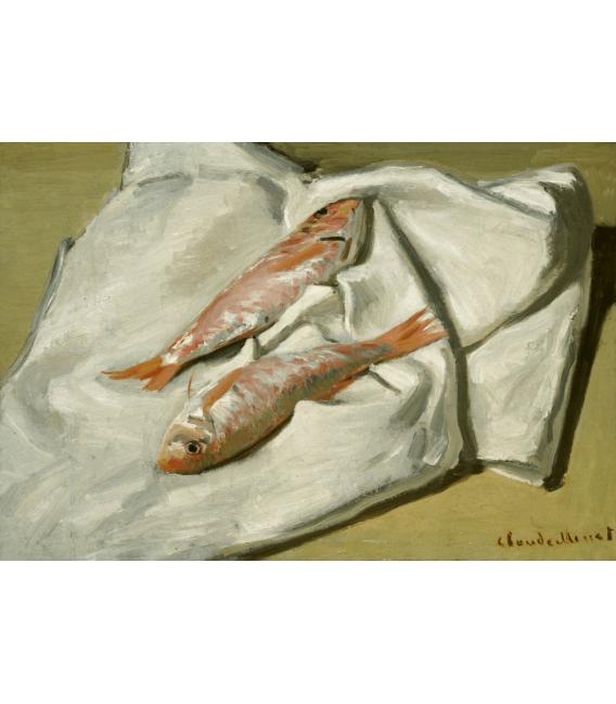 Stampa su tela: Claude Monet - Red Mullets