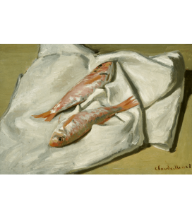 Claude Monet - Red Mullets. Printing on canvas