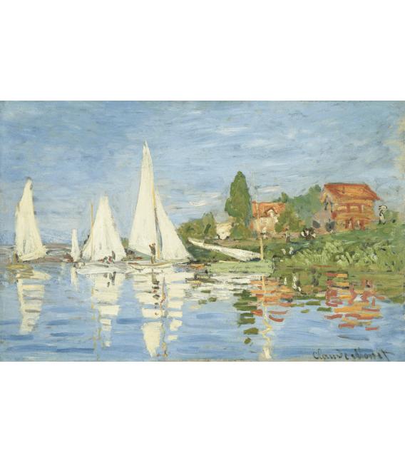Stampa su tela: Claude Monet - Regate ad Argenteuil