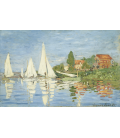 Claude Monet - The Boats Regatta at Argenteuil. Printing on canvas