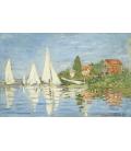 Claude Monet - Regate ad Argenteuil. Stampa su tela