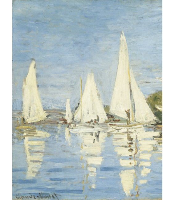Printing on canvas: Claude Monet - The Boats Regatta at Argenteuil 2