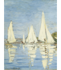 Claude Monet - The Boats Regatta at Argenteuil 2. Printing on canvas