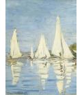 Stampa su tela: Claude Monet - Regate ad Argenteuil 2