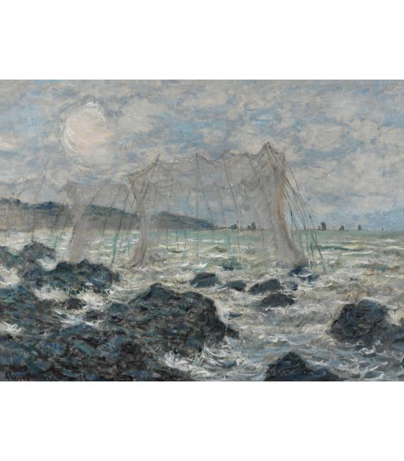 Stampa su tela: Claude Monet - Reti da pesca a Pourville