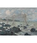 Claude Monet - Reti da pesca a Pourville. Stampa su tela