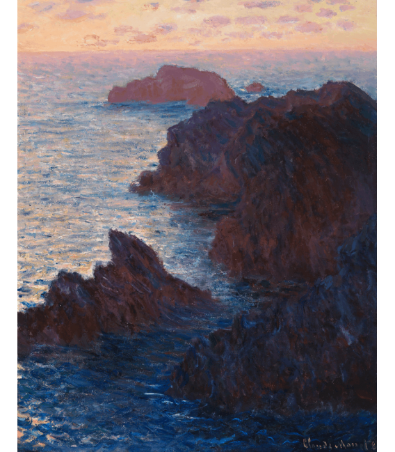 Printing on canvas: Claude Monet - Rocks at Belle-Ile