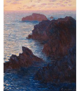 Stampa su tela: Claude Monet - Rocce a Belle-lle, Port-Domois