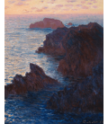 Claude Monet - Rocks at Belle-Ile, Port-Domois. Printing on canvas