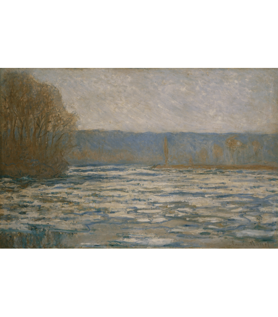 Printing on canvas: Claude Monet - Ice breaking on the Seine near Bennecourt
