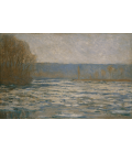 Claude Monet - Ice breaking on the Seine near Bennecourt. Printing on canvas