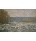 Claude Monet - Rottura del ghiaccio sulla Senna vicino Bennecourt. Stampa su tela