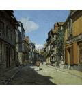 Claude Monet - Rue de la Bavole, Honfleur. Stampa su tela