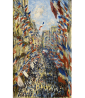 Stampa su tela: Claude Monet - Rue Montorgueil, festa di Parigi 30 giugno 1878