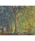 Claude Monet - Salice piangente. Stampa su tela