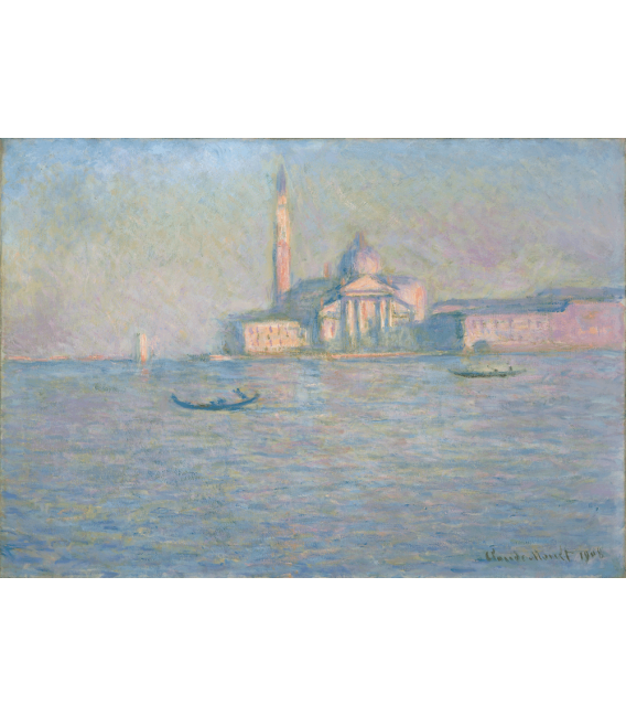 Printing on canvas: Claude Monet - Sùt Giorgio Greater