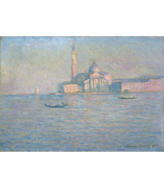 Stampa su tela: Claude Monet - San Giorgio Maggiore, Venezia, la chiesa