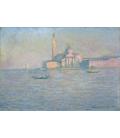Claude Monet - San Giorgio Maggiore, Venezia, la chiesa. Stampa su tela