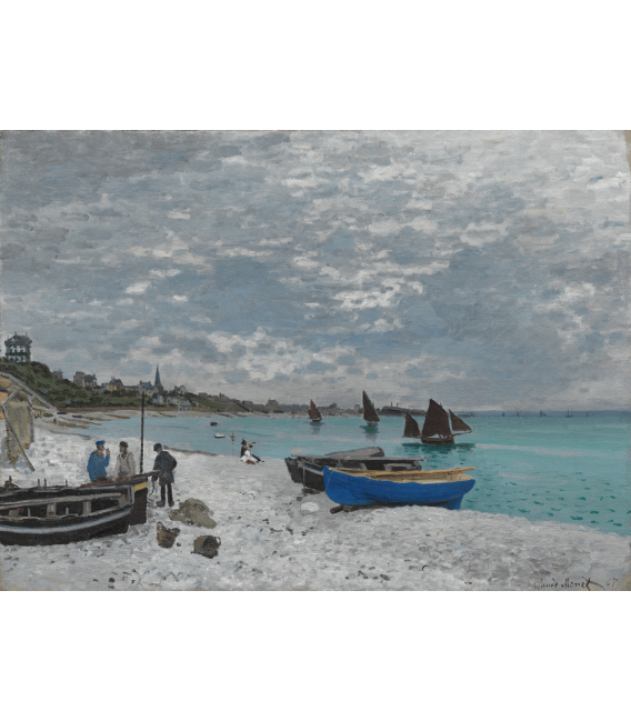Printing on canvas: Claude Monet - Beach at Sainte-Adresse