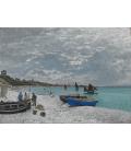 Claude Monet - Spiaggia a Sainte-Adresse. Stampa su tela
